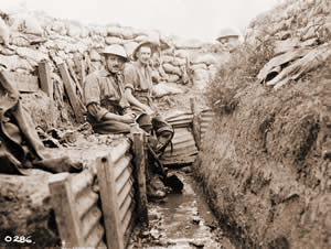World War I - Soldiers in the trenches