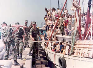 Cuba - More than 125,000 Cubans crowded into boats to make the journey to America in 1980.